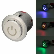 22mm 12V DC LED Power Push Button ON / Off Car Boat Engine Start Switch Latching