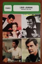 French Film & TV Actor Louis Jourdan (period 1953-1983) French Film Trade Card