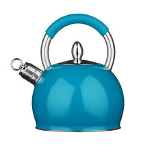 Whistling Kettle Stainless Steel Blue 3 Litre Attractive Design Brand New