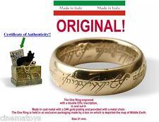 LORD OF THE RINGS L' Único ANILLO ESCRITO ORO Ver. 18 MM El Señor De Los Anillos
