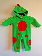 Halloween Costume Baby Infant 18 Mo DINOSAUR Green Red Spots