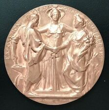 1897 BELGIUM / Large COPPER MEDAL International Exposition BRUXELLES signed M87