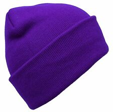 Knitted Beanie Cap Winter Hats for Men Warm Hat Solid Color Beanie