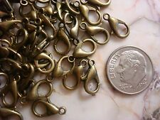 100 Bronze plated metal lobster claw jewelry clasps 12mm fpc185