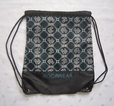 ROCAWEAR BACKSACK BACKPACK LOGO PATTERN - BLACK - NWOT - RETAIL FOR $24