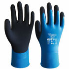 Wonder Grip Safety Protection Waterproof Latex Gloves Gardening Blue Nylon Glove