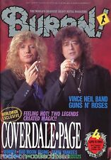 Burrn! Heavy Metal Magazine April 1993 Japan Coverdale Page Guns N Roses
