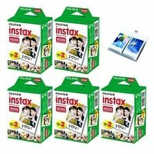 10 Packs Fujifilm instax Mini Film,100 Fuji instant photos 7s 8 90 + Album