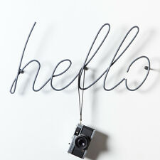 HELLO Block Design Heals Wall Coat Rack Hook Stand Rail Hall Nursery Hat Storage