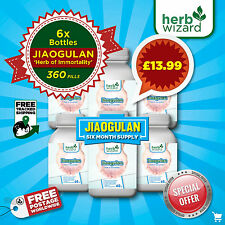 Jiaogulan Gynostemma Super Herbe de immortalité, 100% Pure Naturel x 6 Mois Kit