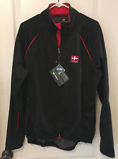 4ucycling Windproof Cycling Jacket Full Zip 3layers Composite Stretchy Black2XL