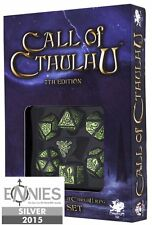 The Official Call of Cthulhu RPG Dice Set, Green / Black 7th Edition