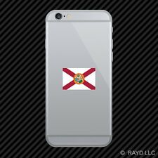 Florida Flag Cell Phone Sticker Mobile Die Cut state southeastern sunshine