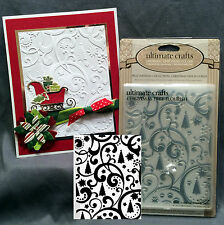 CHRISTMAS TREE FLOURISH embossing folders ULT CRAFTS embossing folder