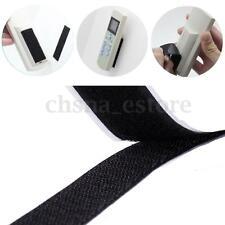 Autoadhesivo Adhesivo Velcro Tiras Para Coser Cinta Gancho Bucle Negro 1M 25mm
