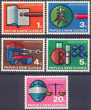 Papua New Guinea 1967 HIGHER EDUCATION (5) Unhinged Mint SG 104-8