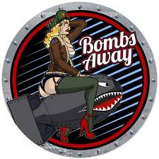 Lethal Threat Pin Up Girl Bombs Away Metal Sign Man Cave Garage Shop LETH106