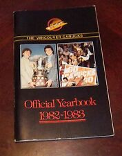 Vancouver Canucks yearbook  1982-1983  NHL Logo + Players