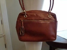 BOTTEGA VENETA textured leather shoulder bag made in Italy braided handles