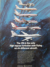 8/1977 PUB GENERAL ELECTRIC CF6 TURBOFAN YC-14 AIRBUS A300 DC-10 BOEING 747 AD