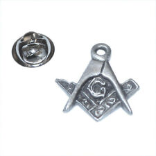 Freemason Masonic Square & Compasses with G LAPEL PIN Cap Badge Birthday Present