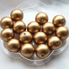 20mm 20pcs Antique Brass Acrylic Pearl Beads Chunky Gumball Beads  Necklace DIY