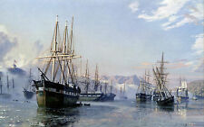John Stobart Print - San Francisco: The Gold Rush Harbor in 1849