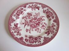 "Royal Stafford Fine Earthenware Dinner Plate made in England 11"" Red"