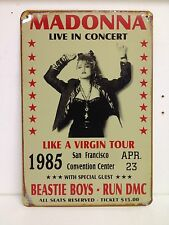 Madonna Live In Concert Big Vintage Retro Metal Sign(30x40cm)