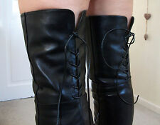 NEW REAR LACE Leather High Heel Overknee Over Knee Thigh Boots 8 9 42 43 10.5 11