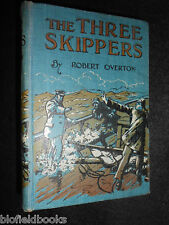 ROBERT OVERTON; The Three Skippers/Secret of the Caves - c1928 - Vintage Fiction