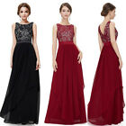 Women Lace Chiffon Sleeveless Party Cocktail Prom Gown Evening Maxi Long Dress