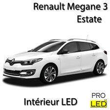 Kit lighting light bulbs LED White interior for Renault Megane 3 Estate Break