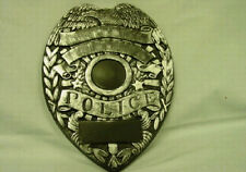 POLICE SHIELD  PLAQUE   CONCRETE PLASTER CEMENT STEPPING STONE MOLD 7048