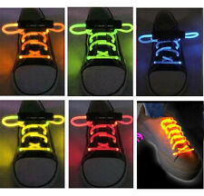 LED LIGHT UP SHOELACES DISCO FLASH LITE GLOW STICK NEON JOGGING SHOES LACE NIGHT