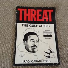 THREAT THE GULF CRISIS BRITISH INTEL PUBLICATION VERY RARE