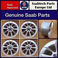 "4 X GENUINE SAAB 18"" ALLOY WHEEL 10 SPOKE 9-3 & 9-5 BRAND NEW - RARE - 12763042"