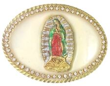 VIRGIN MARY VIRGEN GUADALUPE METAL BELT BUCKLE COWBOY & WESTERN HEBILLA CHARRO