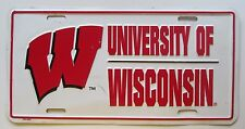 1990's UNIVERSITY OF WISCONSIN BOOSTER License Plate