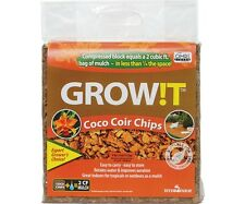 All NEW !! GROW!T Organic Coco Coir Planting Chips, Block SAVE $$ W/ BAY HYDRO