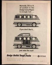 Original 1965 '65 DODGE CAMP WAGON Truck Ad ~ Vintage Advertisement CHRYSLER
