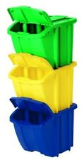 Recycle Bin Kit Pack Easy Open Lid Recycling Environment Bins Containers Trash