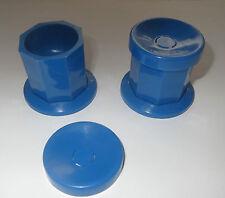 Dappen Dish blau   für ACRYL Flüssigkeit   Liquid Holder mit DECKEL