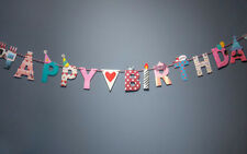 Happy Birthday Banner Home Decoration Colorful and Fun Paper Birthday Flags