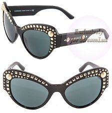 VERSACE Sunglasses VE 4269 GB1-87 Black Silver Gold Studs LIMITED by LADY GAGA
