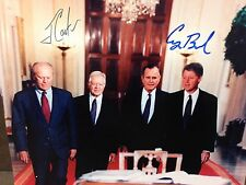 GEORGE BUSH JIMMY CARTER 8x10 PHOTO SIGNED GUARANTEED AUTHENTIC