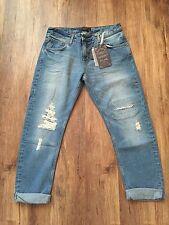 ZARA Women's Boyfriend Jeans(Mid-blue, US  6/EUR  38/UK 10)