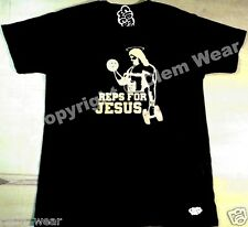 REPS FOR JESUS T SHIRT Special Edition muscle bodybuilding mens gym fitness tee