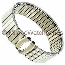 18mm Milano Stainless Steel Twist-O-Flex Curved End Watch Band