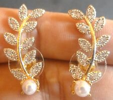 Indian Gold Plated Cubic Zirconia Small Stud Ad Earrings Set b